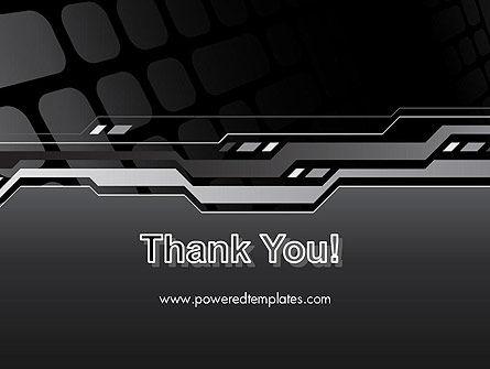 Abstract Black High Tech PowerPoint Template Slide 20