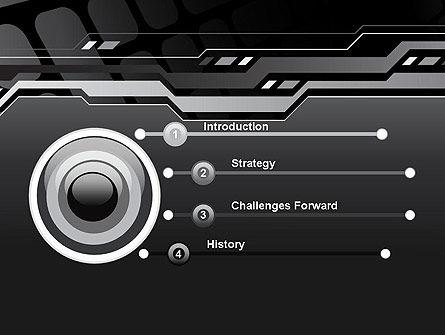 Abstract Black High Tech PowerPoint Template Slide 3