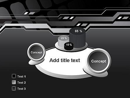 Abstract Black High Tech PowerPoint Template Slide 6