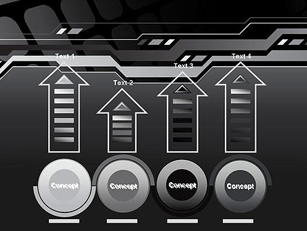 Abstract Black High Tech PowerPoint Template Slide 7