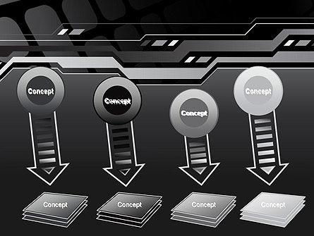 Abstract Black High Tech PowerPoint Template Slide 8