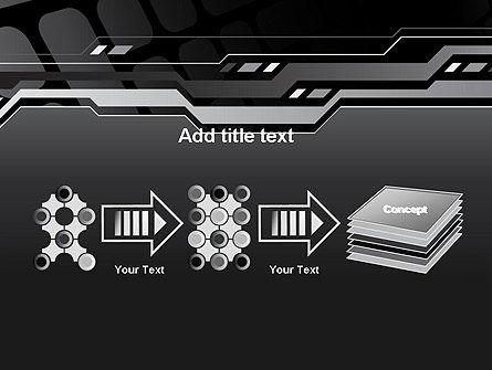 Abstract Black High Tech PowerPoint Template Slide 9