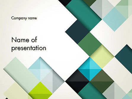 Tilted Grid Layout Abstract PowerPoint Template