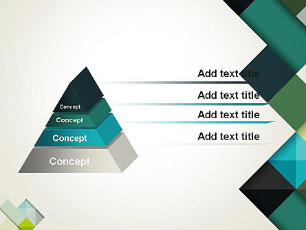 Tilted Grid Layout Abstract PowerPoint Template Slide 12