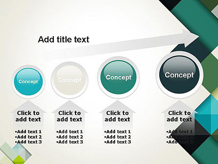 Tilted Grid Layout Abstract PowerPoint Template Slide 13