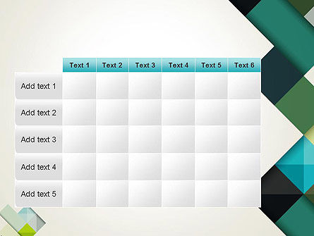 Tilted Grid Layout Abstract PowerPoint Template Slide 15