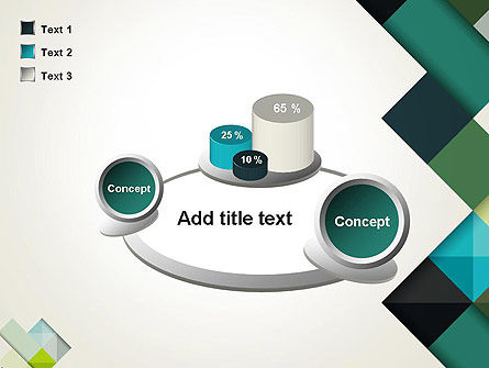 Tilted Grid Layout Abstract PowerPoint Template Slide 16