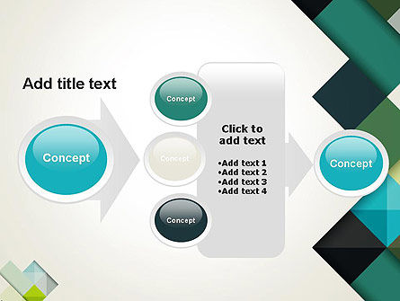 Tilted Grid Layout Abstract PowerPoint Template Slide 17
