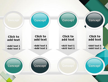 Tilted Grid Layout Abstract PowerPoint Template Slide 18
