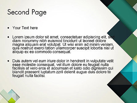 Tilted Grid Layout Abstract PowerPoint Template Slide 2
