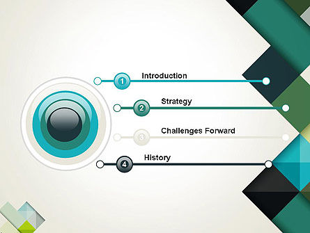 Tilted Grid Layout Abstract PowerPoint Template Slide 3