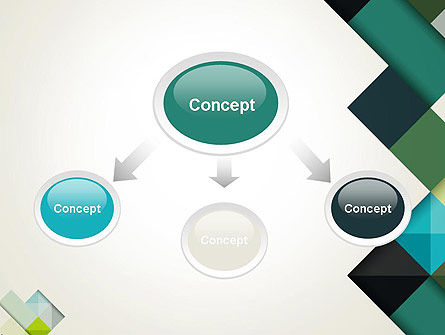 Tilted Grid Layout Abstract PowerPoint Template Slide 4