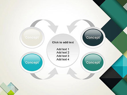 Tilted Grid Layout Abstract PowerPoint Template Slide 6
