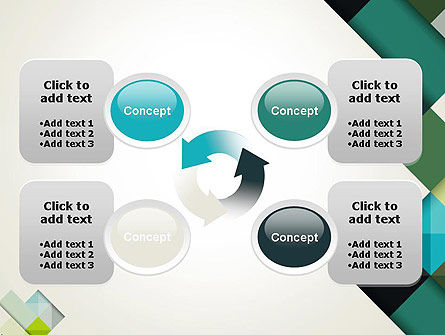 Tilted Grid Layout Abstract PowerPoint Template Slide 9