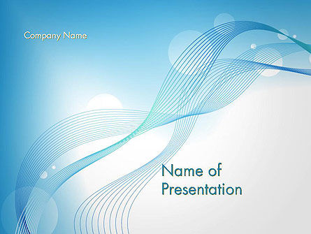 Soft Blue Abstract PowerPoint Template