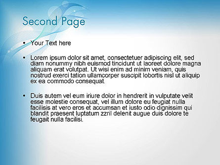 Soft Blue Abstract PowerPoint Template Slide 2