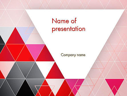 Vivid Triangles Abstract Powerpoint Template Backgrounds