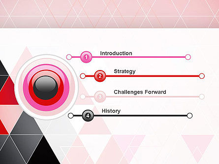 Vivid Triangles Abstract PowerPoint Template Slide 3
