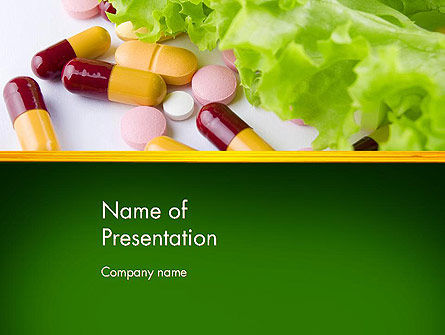 Food Supplements PowerPoint Template, 13191, Food & Beverage — PoweredTemplate.com