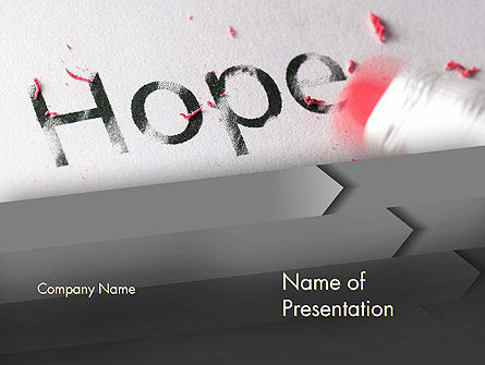 Losing Hope PowerPoint Template, 13193, Religious/Spiritual — PoweredTemplate.com
