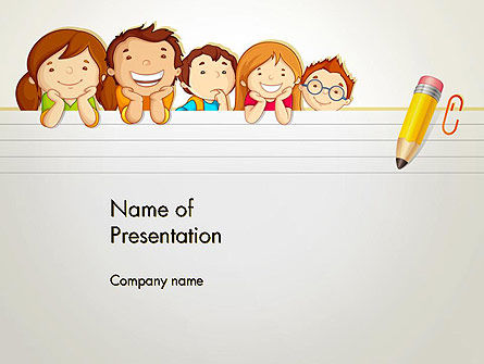 Back to School with Kids PowerPoint Template