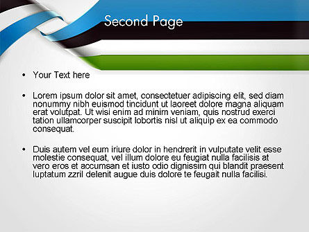 Twisted Striped Layers Abstract PowerPoint Template, Slide 2, 13196, 3D — PoweredTemplate.com