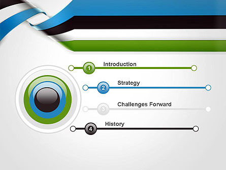 Twisted Striped Layers Abstract PowerPoint Template, Slide 3, 13196, 3D — PoweredTemplate.com