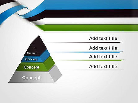 Twisted Striped Layers Abstract PowerPoint Template, Slide 4, 13196, 3D — PoweredTemplate.com