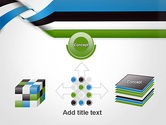 Twisted Striped Layers Abstract PowerPoint Template#19