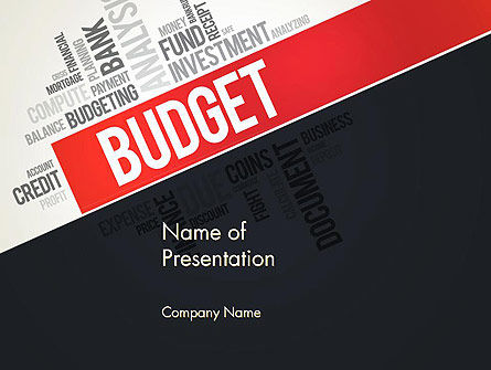 Budget Word Cloud PowerPoint Template, 13197, Financial/Accounting — PoweredTemplate.com