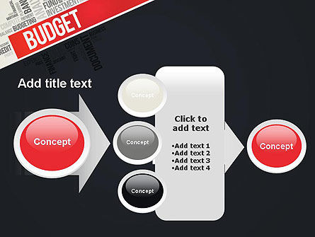 Budget Word Cloud PowerPoint Template Slide 17