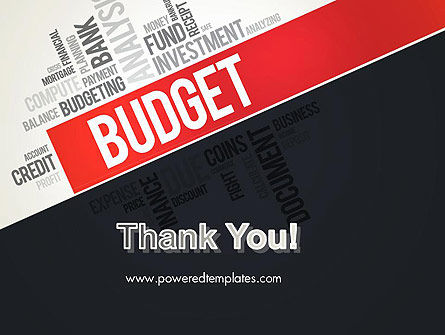Budget Word Cloud PowerPoint Template Slide 20