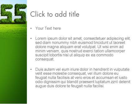 Green Grass Word Success PowerPoint Template, Slide 3, 13198, Business Concepts — PoweredTemplate.com