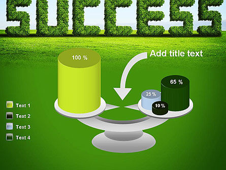Green Grass Word Success PowerPoint Template Slide 10