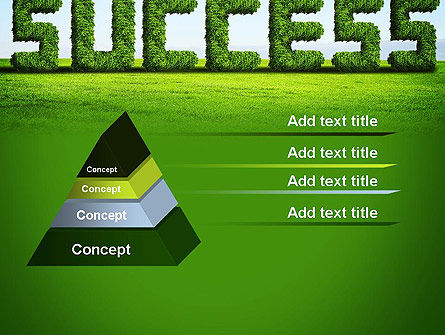 Green Grass Word Success PowerPoint Template Slide 12