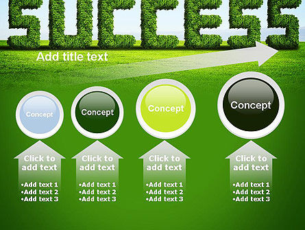 Green Grass Word Success PowerPoint Template Slide 13