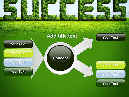 Green Grass Word Success PowerPoint Template Slide 14