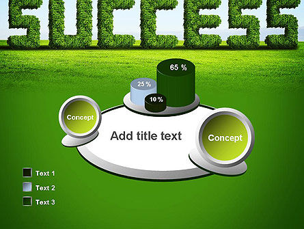 Green Grass Word Success PowerPoint Template Slide 16