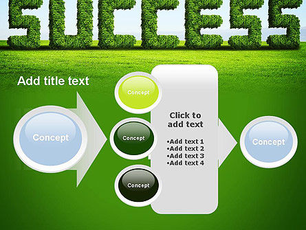 Green Grass Word Success PowerPoint Template Slide 17