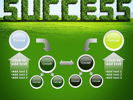 Green Grass Word Success PowerPoint Template Slide 19