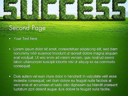 Green Grass Word Success PowerPoint Template Slide 2
