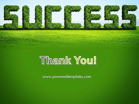 Green Grass Word Success PowerPoint Template Slide 20