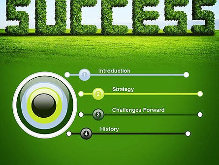 Green Grass Word Success PowerPoint Template Slide 3