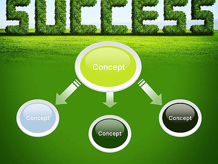 Green Grass Word Success PowerPoint Template Slide 4
