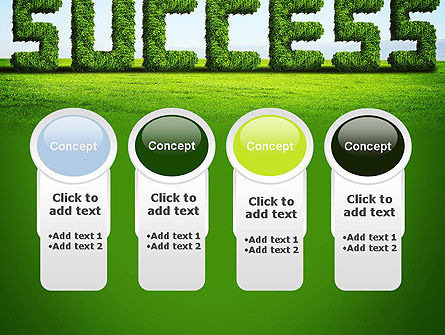 Green Grass Word Success PowerPoint Template Slide 5