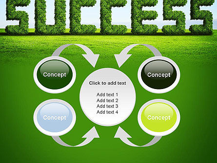 Green Grass Word Success PowerPoint Template Slide 6
