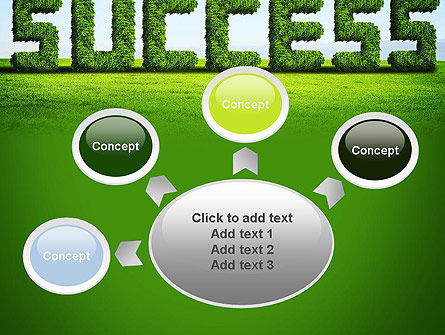 Green Grass Word Success PowerPoint Template Slide 7