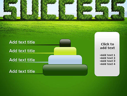 Green Grass Word Success PowerPoint Template Slide 8