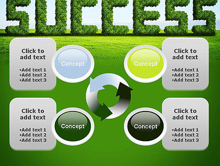 Green Grass Word Success PowerPoint Template Slide 9