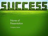 Green Grass Word Success PowerPoint Template#1
